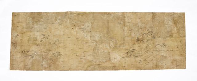 山水図(全図):「第 70 回正倉院展」奈良国立博物館 会期「10月27日~11月12日」