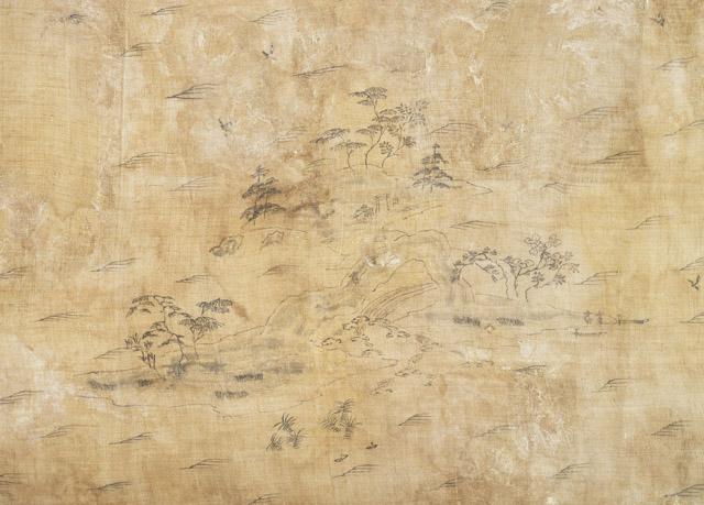 山水図(さんすいず)(右部分):「第 70 回正倉院展」奈良国立博物館 会期「10月27日~11月12日」