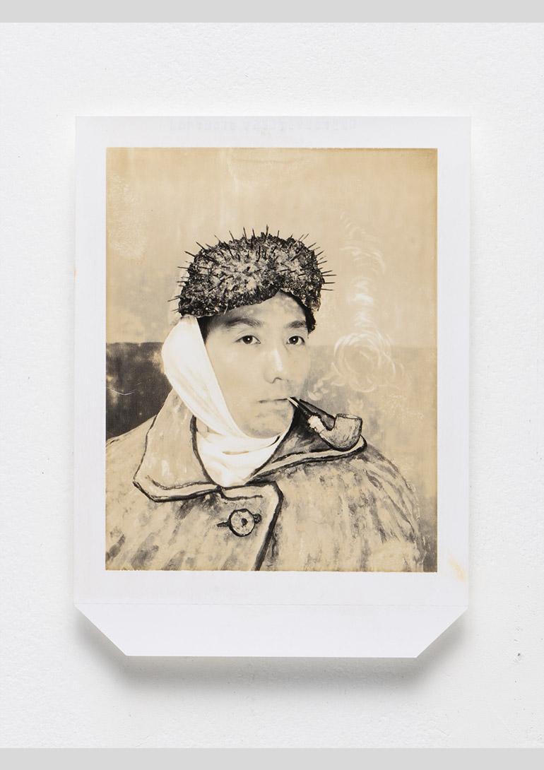 森村泰昌, 素顔のゴッホ, 1985, 拡散転写方式印画, 14.7×10.7cm:「森村泰昌「私」の年代記 1985〜2018 」シュウゴアーツ