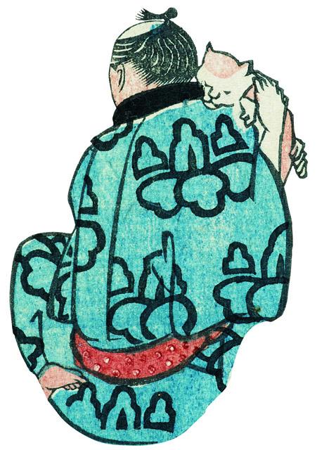 歌川国芳「浮世よしづくし」より国芳自画像 名古屋市博物館蔵(高木繁コレクション):特別展「挑む浮世絵 国芳から芳年へ」名古屋市博物館