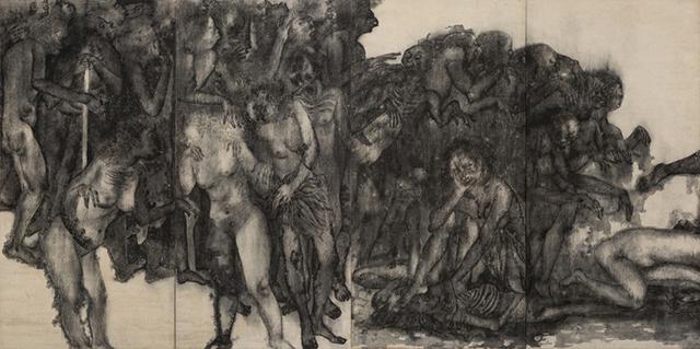 丸木位里・俊《原爆の図 第1部 幽霊》(再制作版・部分)1950−51年(後年に加筆) 広島市現代美術館蔵 :「丸木位里・俊 ―《原爆の図》をよむ」広島市現代美術館
