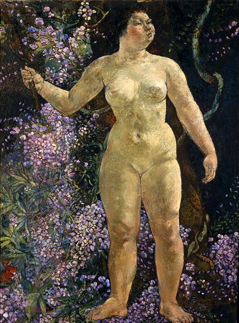 丸木俊《裸婦(解放されゆく人間性)》1947年 個人蔵 :「丸木位里・俊 ―《原爆の図》をよむ」広島市現代美術館