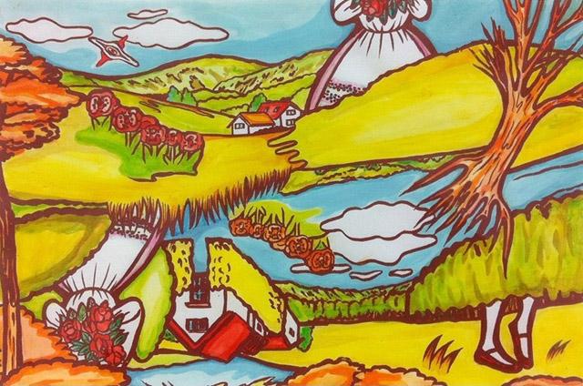 青木 陵子《つながりもの》2000年 ©Ryoko Aoki:「現代アートの宝箱 OPAM利岡コレクション」大分県立美術館