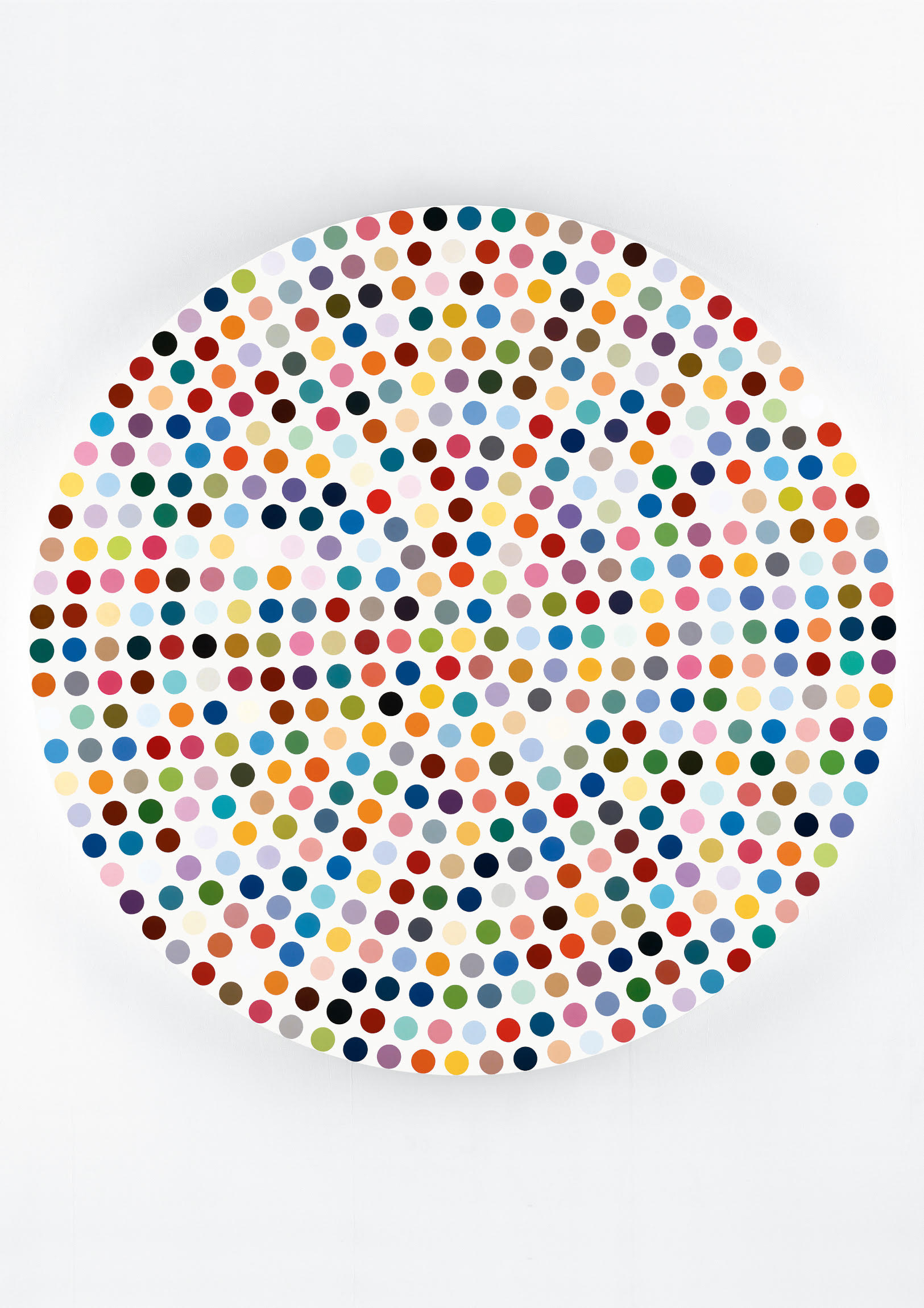 DAMIEN HIRST《ZINC SULFIDE》2004, φ182.9 cm, household gloss on canvas:「HOMMAGE」Sansiao Gallery