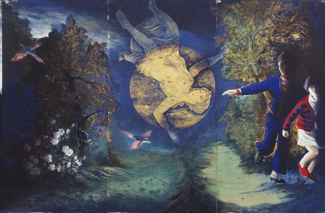 伊藤彬《青幻記》1976 年 _ 彩色・紙:「5感+1つの感性 絵を見ておしゃべりしよう!」平塚市美術館