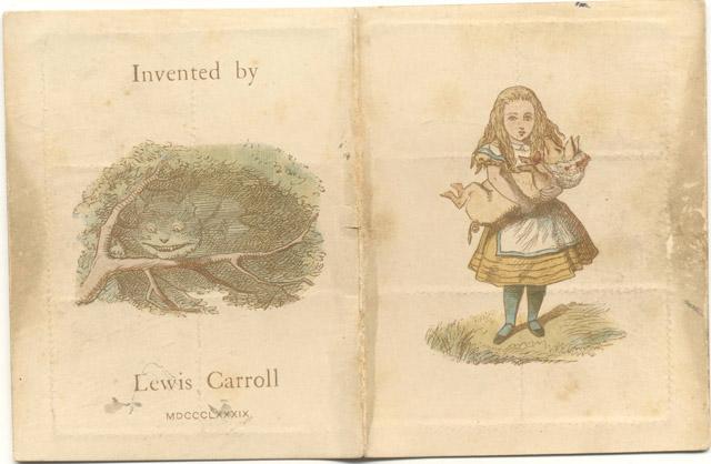 ルイス・キャロル「切手ケース」 Lewis Carroll, The Wonderland postage stamp case, The Rosenbach, Philadelphia:「不思議の国のアリス展」神戸展 兵庫県立美術館