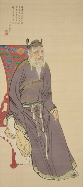 長沢蘆雪 郭子儀図:「春の江戸絵画まつり へそまがり日本美術 禅画からヘタウマまで」府中市美術館