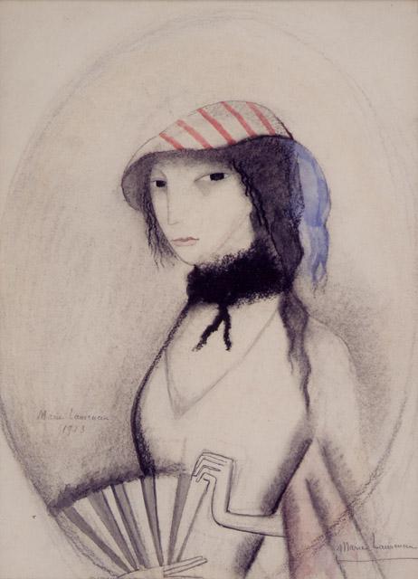 マリー・ローランサン《扇を持つ若い女》1913年、水彩・紙:「アナザー・ストーリー /人の数だけ、物語がある。」高崎市美術館