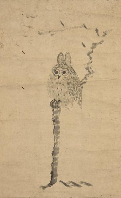 徳川家光 木菟:「春の江戸絵画まつり へそまがり日本美術 禅画からヘタウマまで」府中市美術館