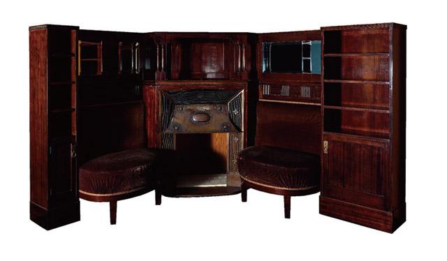 アドルフ・ロース 壁付家具 1904年頃 武蔵野美術大学 美術館・図書館:「世紀末ウィーンのグラフィック デザインそして生活の刷新にむけて」京都国立近代美術館