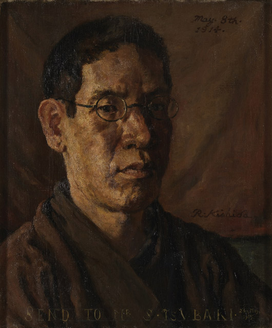 岸田劉生《椿君に贈る自画像》1914:「百年の編み手たち -流動する日本の近現代美術-」東京都現代美術館