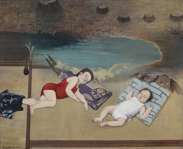 中原實《杉の子》1947:「百年の編み手たち -流動する日本の近現代美術-」東京都現代美術館