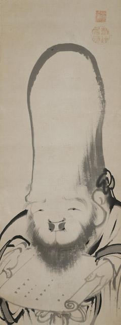 伊藤若冲 福禄寿図(前期・後期展示):「春の江戸絵画まつり へそまがり日本美術 禅画からヘタウマまで」府中市美術館