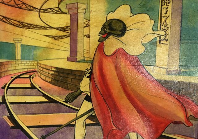 鈴木一郎作、永松武雄(健夫)画『黄金バット』1931 年頃 個人蔵:「Oh !マツリ☆ゴト 昭和・平成のヒーロー & ピーポー」兵庫県立美術館