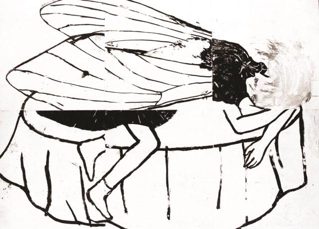 村上早《カフカ》2014年、エッチング・紙:「アナザー・ストーリー /人の数だけ、物語がある。」高崎市美術館