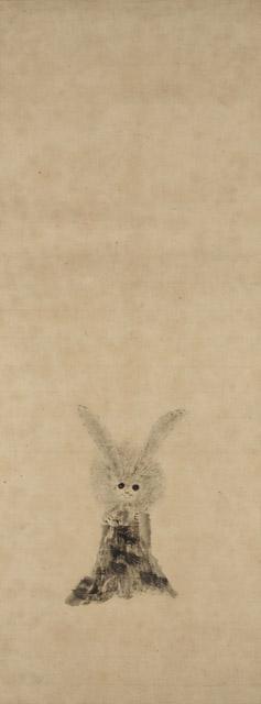 徳川家光 兎図(前期・後期展示):「春の江戸絵画まつり へそまがり日本美術 禅画からヘタウマまで」府中市美術館