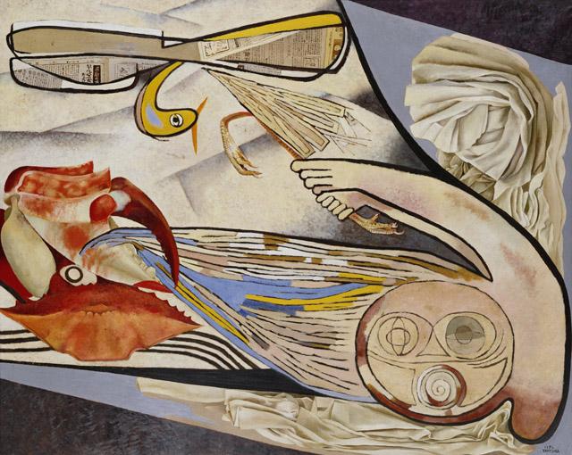 桂ゆき《抵抗》1952:「百年の編み手たち -流動する日本の近現代美術-」東京都現代美術館