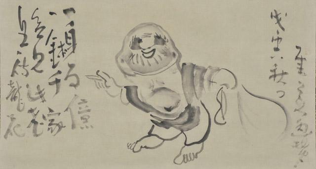 仙厓義梵 布袋図:「春の江戸絵画まつり へそまがり日本美術 禅画からヘタウマまで」府中市美術館