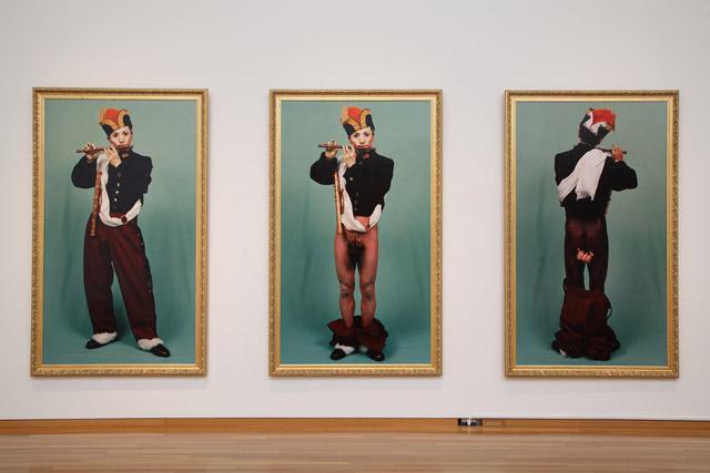 森村泰昌《肖像(少年1、2、3)》1988:「百年の編み手たち -流動する日本の近現代美術-」東京都現代美術館