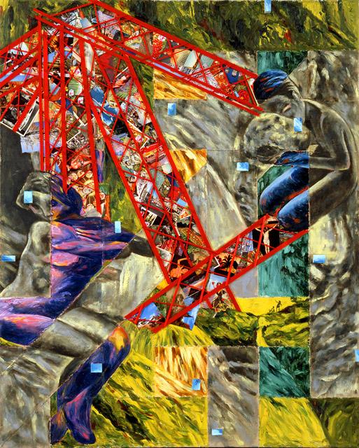 《赤い夢》 1989年 ニューハウス工業株式会社蔵:「横尾忠則 大公開制作劇場〜本日、美術館で事件を起こす」横尾忠則現代美術館