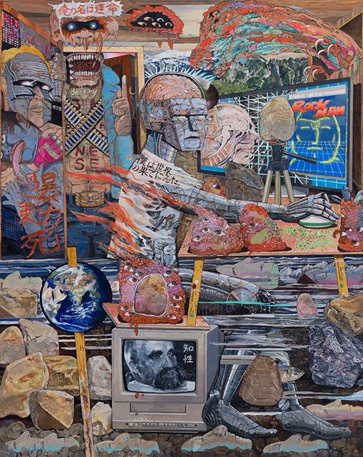 榎本耕一 《脳の居場所》 2017年 油彩、キャンバス 162×130 cm