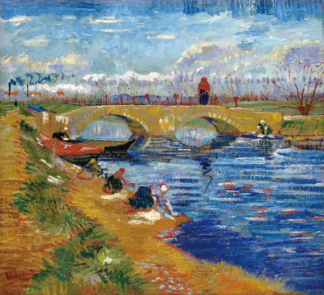 フィンセント・ファン・ゴッホ 《ヴィゲラ運河にかかるグレーズ橋》1888 年 ポーラ美術館蔵