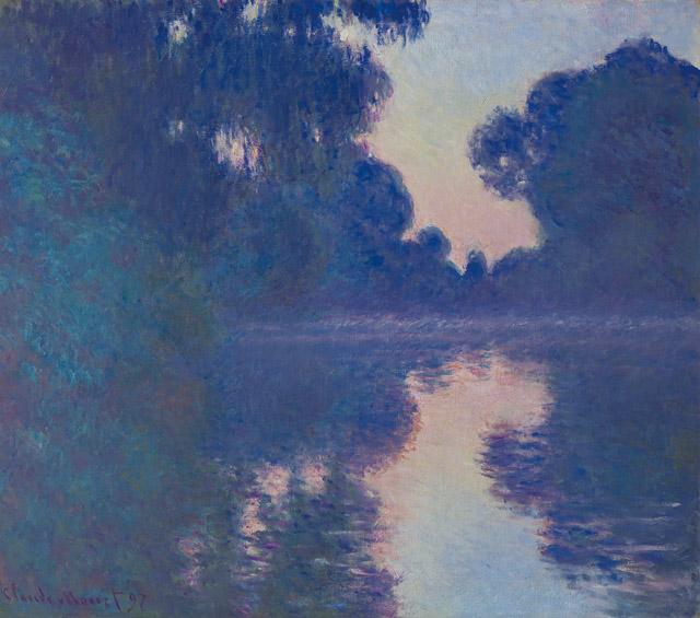 クロード・モネ 《セーヌ河の朝》1897 年 ひろしま美術館蔵