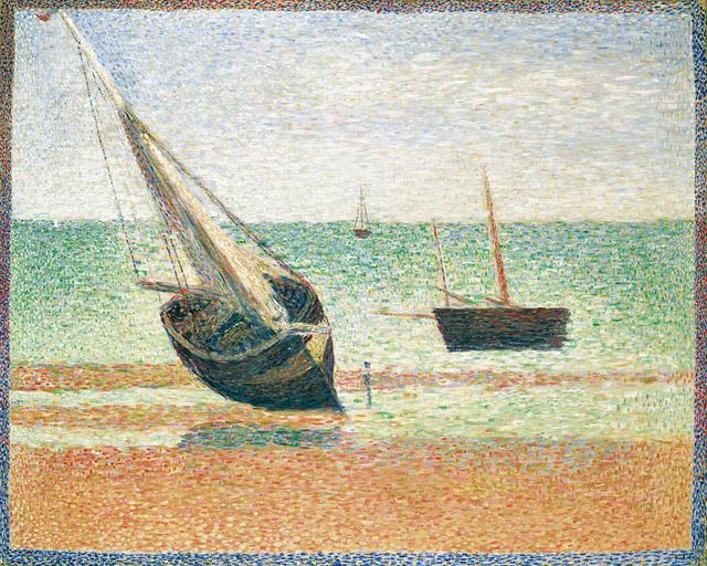 ジョルジュ・スーラ《グランカンの干潮》1885 年 ポーラ美術館