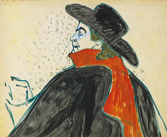 アンリ・ド・トゥールーズ=ロートレック 《アリスティド・ブリュアン》1893 年 ひろしま美術館