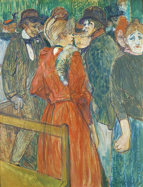 アンリ・ド・トゥールーズ=ロートレック 《ムーラン・ド・ラ・ガレットにて》1891 年頃 ポーラ美術館