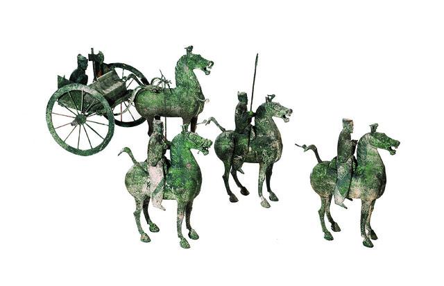 儀仗俑 青銅 後漢時代・2~3世紀 1969年、甘粛省武威市雷台墓出土 甘粛省博物館蔵