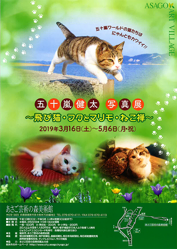 五十嵐健太 写真展 ~ 飛び猫・フクとマリモ・ねこ禅 ~