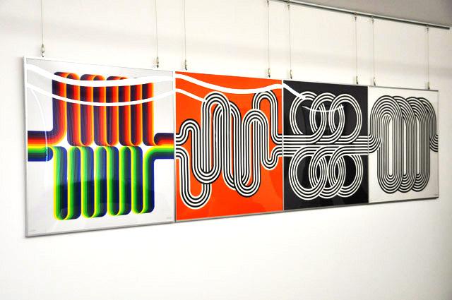 Julio Le Park HERMES スカーフ ロングウォークのバリエーション パネル展