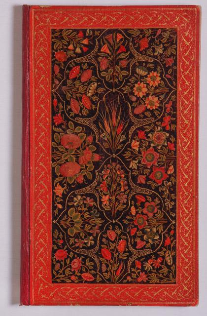 《詩集のワニス塗り表紙》 18世紀前半 トプカプ宮殿博物館蔵