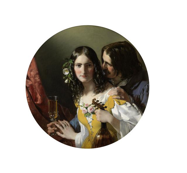 フリードリヒ・フォン・アメリング《3つの最も嬉しいもの》1838年 油彩/カンヴァス 80 x 80 cmウィーン・ミュージアム蔵 ©Wien Museum / Foto Peter Kainz