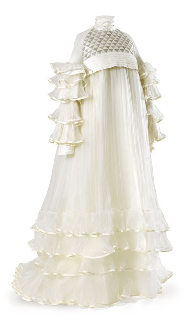 《エミーリエ・フレーゲのドレス(再製作)》2008年(オリジナル:1909年)コットンジャージー、シルクタフタ、オーガンザ 前丈 150 cm、後丈 170 cm、袖丈 63 cm ウィーン・ミュージアム蔵 ©Wien Museum / Foto Peter Kainz