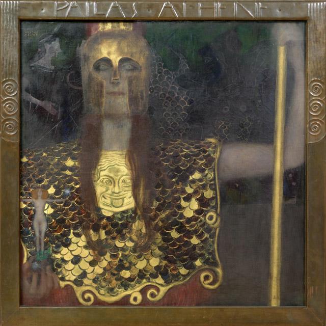 グスタフ・クリムト《パラス・アテナ》1898年 油彩/カンヴァス 75 x 75 cm ウィーン・ミュージアム蔵 ©Wien Museum / Foto Peter Kainz