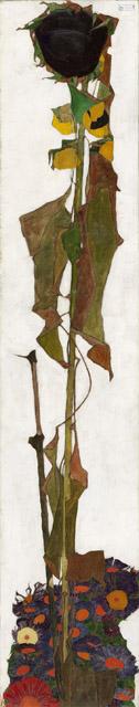 エゴン・シーレ《ひまわり》1909-10年 油彩/カンヴァス 149.5 x 30 cm ウィーン・ミュージアム蔵©Wien Museum / Foto Peter Kainz