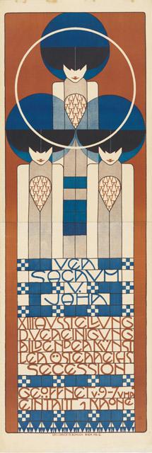 コロマン・モーザー《第 13回ウィーン分離派展ポスター》 1902年 カラーリトグラフ 187 x 63.5 cmウィーン・ミュージアム蔵 ©Wien Museum / Foto Peter Kainz