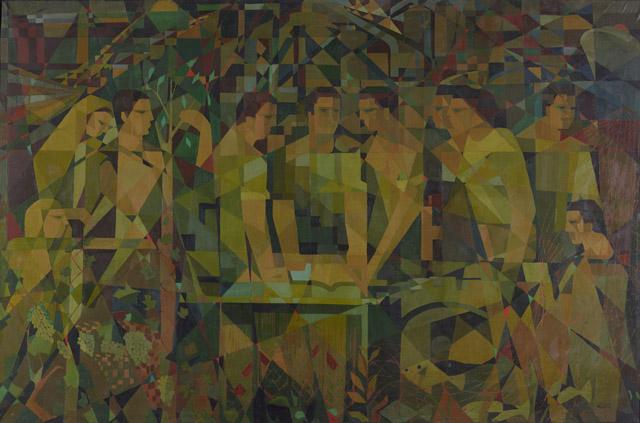 Ferruh Başağa, Toplum ve İşbirliği, 1953, oil on canvas. Photo by Ozan Çakmak