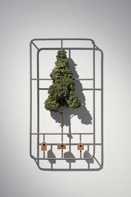 TREE - KIT W180×D40×H300(mm)スポンジ・ステンレス・銅線・木 /sponge・stainless steel・copper wire・wood 2016 Photo © KATO ken