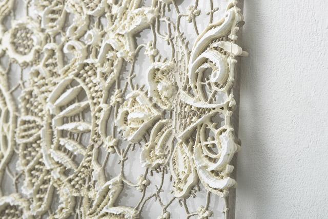 《Lace#21》 2012年 59×49cm アクリル板の上にシルクスクリーン photoOMOTE Nobutada