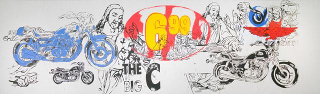 アンディ・ウォーホル 《最後の晩餐》  1986年 アンディ・ウォーホル美術館蔵<br>© The Andy Warhol Foundation for the Visual Arts, Inc. / Artists Rights Society (ARS), New York  麻にアクリル、シルクスクリーン・インク 294.6 x 990.6 x 5.1cm