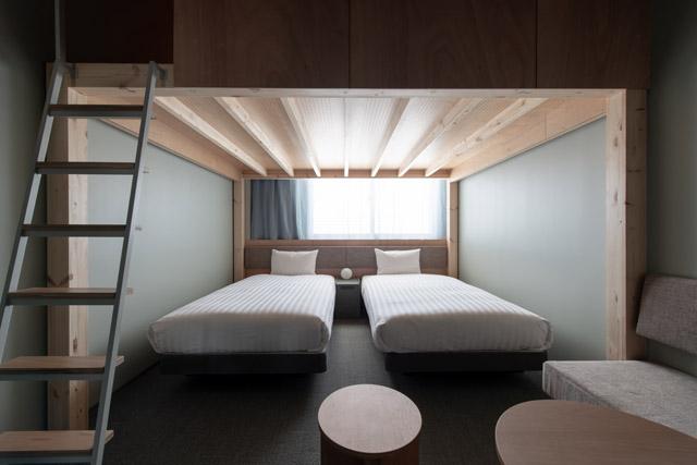 ワクワク感の高まるロフト付きの部屋はお子様連れの旅にもぴったり