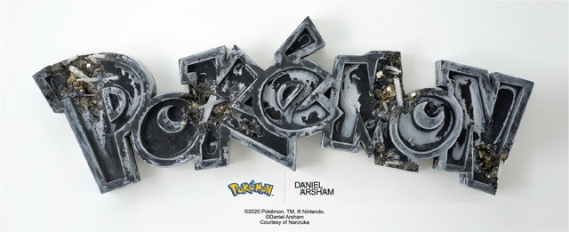 「Crystalized Pokémon」ステッカー(非売品) ©Daniel Arsham Courtesy of NANZUKA ©2020 Pokémon. TM, ® Nintendo.