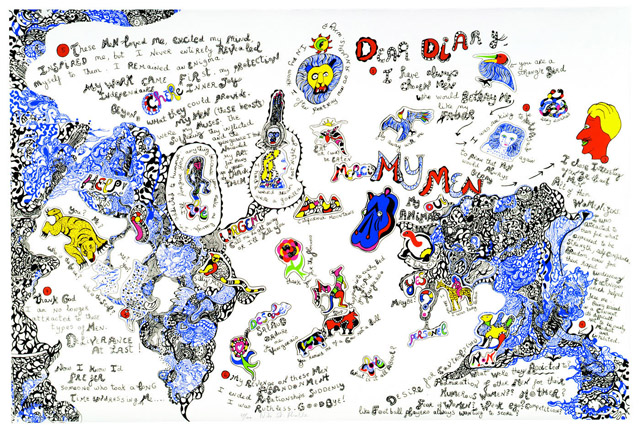 NIKI DE SAINT PHALLE《CALIFORNIA DIARY(MY MEN)》1991, 80 x 120 cm, serigraph, paint and pencil on paper:「HOMMAGE」Sansiao Gallery